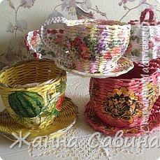 Плетение из бумажной лозы фото 10