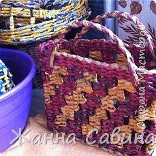 Плетеные корзины и корзиночки фото 16