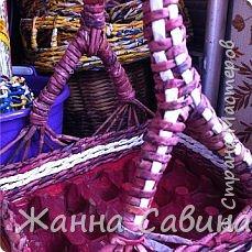 Плетение из бумажной лозы фото 5