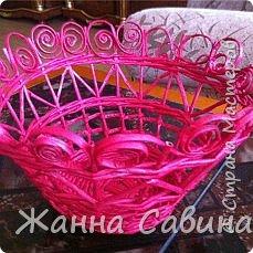 Плетение из бумажной лозы фото 12