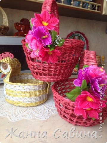 Плетеные корзины и корзиночки фото 2