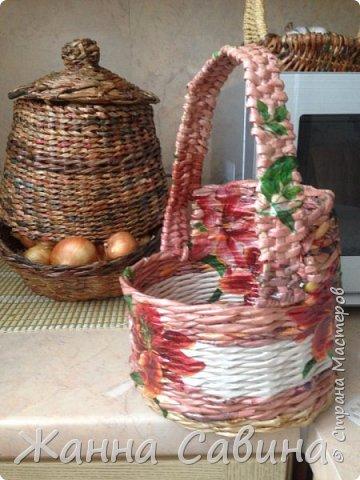 Плетеные корзины и корзиночки фото 15