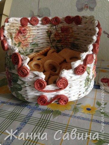 Хлебницы из бумажной лозы фото 11