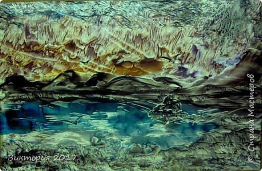 """""""Луна, дерево, река.."""" А4 фото 2"""