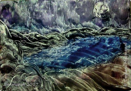 """""""Луна, дерево, река.."""" А4 фото 3"""