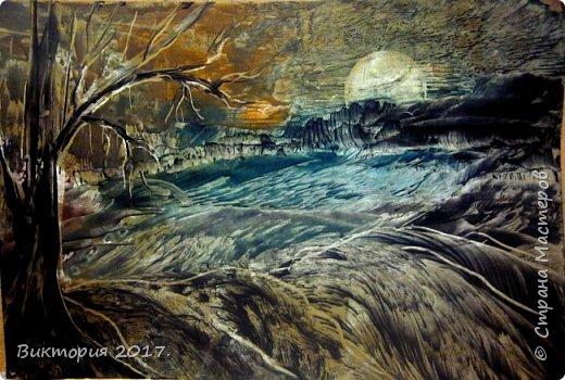 """""""Луна, дерево, река.."""" А4 фото 1"""