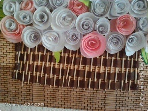 Букетик роз на бамбуковом коврике)))))  фото 3