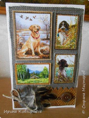 """Три открытки """"Собаки"""". Но котам так понравилось у меня жить, что они тоже затесались в эту компанию. фото 18"""