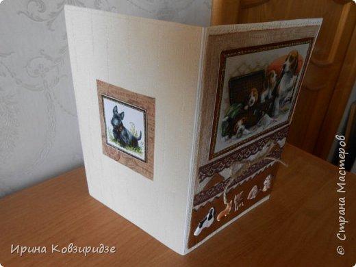"""Три открытки """"Собаки"""". Но котам так понравилось у меня жить, что они тоже затесались в эту компанию. фото 4"""