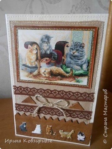 """Три открытки """"Собаки"""". Но котам так понравилось у меня жить, что они тоже затесались в эту компанию. фото 13"""