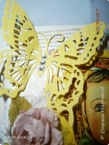"""В этой открытки я использовала изображение с шоколада """"Аленка"""". фото 4"""