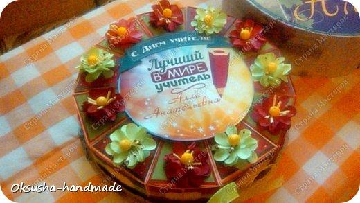 Тортик с с пожеланиями на День Учителя фото 5