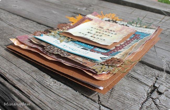Добрый день! это опять я. Сегодня отличный теплый солнечный денек! И открыточка хорошо снималась, только ветер пару раз ее сдувал со стола и уносил на полянку. Открытка для любимого зятя. фото 3