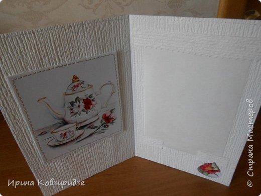 Домашние открыточки.Сделано специально для выставки( с использованием природного материала). Решила распечатать картинки на лазерном принтере на мелованной плотной бумаге, наклеила на картон, прострочила, потом- на кусочки вспененного скотча. Бумага-обои. фото 22