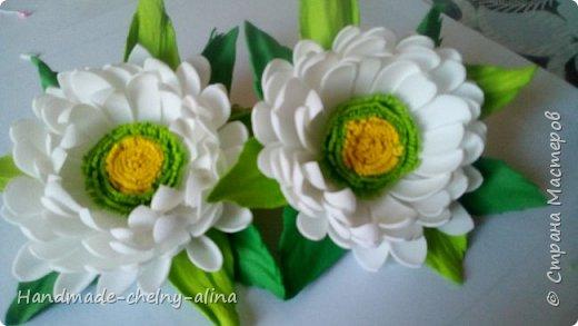 Резиночки с цветами из фоамирана фото 2