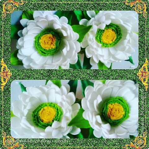Резиночки с цветами из фоамирана фото 1