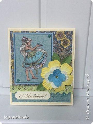 """Было у меня несколько листов бумаги из коллекции Scrapberry's """"Сказка про фей"""", в том числе лист с карточками. Бумага очень красивая! Не совсем осенняя, правда, но мне захотелось ее использовать к Дню Учителя. Вот так сложилась эта серия открыток и конвертиков для денежного подарка с надписями """"Спасибо"""" и """"С  любовью"""". фото 5"""