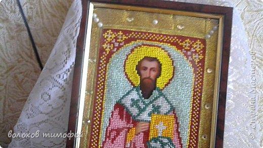Доброе время суток, вышила моя мама новую икону Св. Апостол Тимофей  фото 2