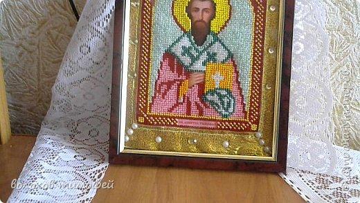 Доброе время суток, вышила моя мама новую икону Св. Апостол Тимофей  фото 3