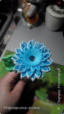 Здравствуйте!!! Зимой этого года сделала маме. Она у меня любит разные цветочки. Бумага для принтера, нарезала сама. Размер 5 мм. фото 3