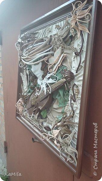 Картина из кожи по МК А.Коробейникова ФАНТАЗИЯ фото 3