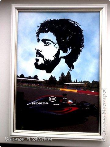 Коллаж. Пилот Формулы 1- Фернандо Алонсо.