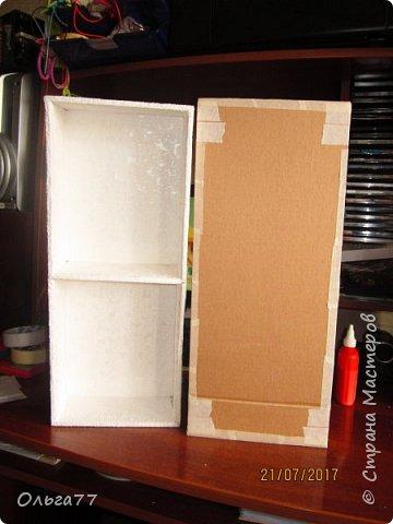 Всем добрый день. Продолжаю подготовку к юбилею своей подруги)))). Хочу поделиться с вами маленьким мастер классом,по созданию коробки для альбомов. Все свои коробочки я делаю из обычного упаковочного картона,клея ПВА и малярного скотча.Вот так выглядит первая часть упаковки. Непосредственно в ней будут лежать фотоальбомы... фото 7