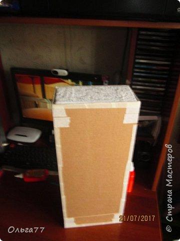 Всем добрый день. Продолжаю подготовку к юбилею своей подруги)))). Хочу поделиться с вами маленьким мастер классом,по созданию коробки для альбомов. Все свои коробочки я делаю из обычного упаковочного картона,клея ПВА и малярного скотча.Вот так выглядит первая часть упаковки. Непосредственно в ней будут лежать фотоальбомы... фото 9