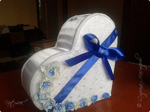 Всем доброго дня, вечера а может и ночи. Сегодня я со свадебным набором в синем цвете, который сделала в подарок дочери моей подруги. фото 2