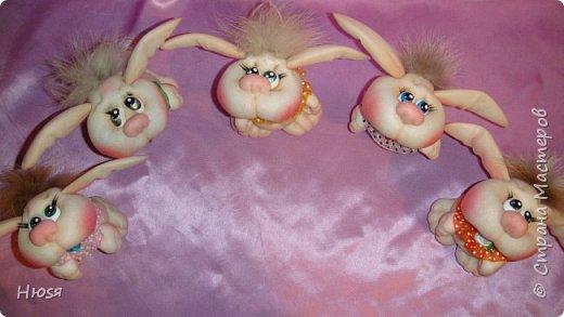 """Куклы выполнены в технике """"скульптурный текстиль"""". Материал: капрон ,синтепон. Высота:15 см.  фото 1"""