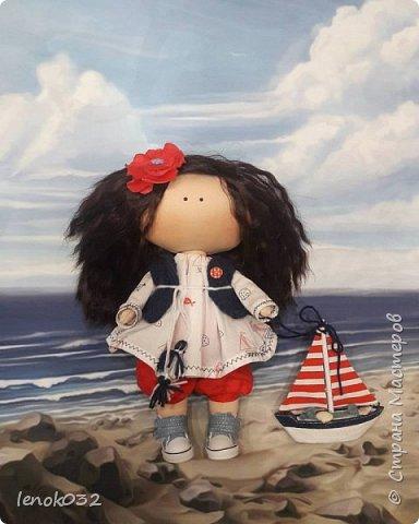 Малышка- морячка с корабликом. Рост 30 см. Продается.