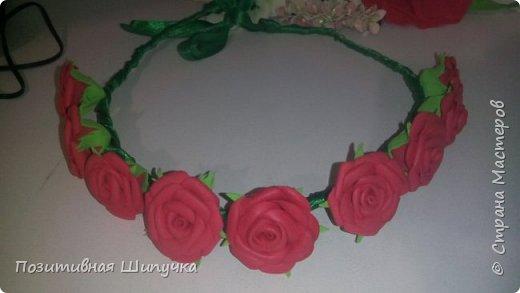 Мой первый веночек с розами из фоамирана) фото 3