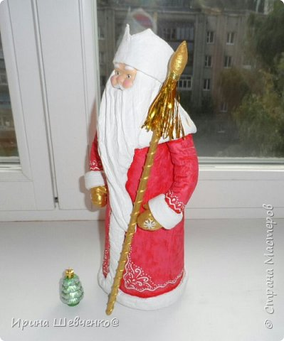 Ура! У меня теперь есть ватный Дед Мороз! Буду его теперь тиражировать)) Высота 40см. фото 2