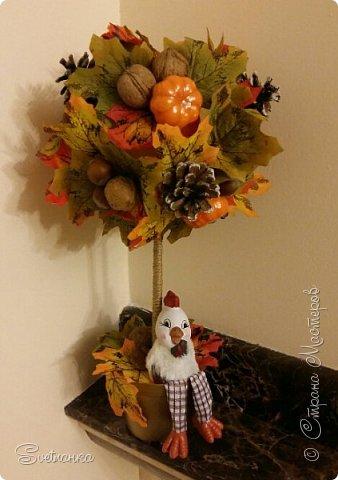 Вот и осень подкралась! На эту тему изготовился осенний топиарий. фото 1