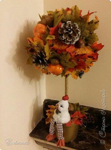 Вот и осень подкралась! На эту тему изготовился осенний топиарий. фото 7