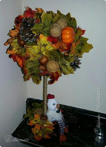 Вот и осень подкралась! На эту тему изготовился осенний топиарий. фото 8