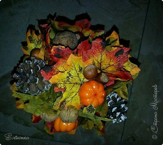 Вот и осень подкралась! На эту тему изготовился осенний топиарий. фото 9