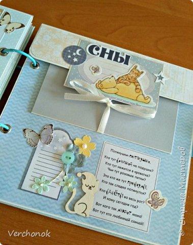 Всем привет) Вот такой очаровательный набор для малыша на первый годик с Винни Пухом, вмещает около 60 фото. Есть секретные развороты, кармашки и много интересных деталек. Коробочка для вещей малыша в той же цветовой гамме и стиле, что и альбом.     фото 17