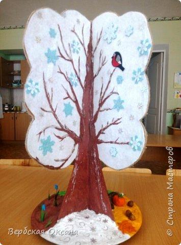 Доброе утро, дорогая страна мастеров!!!! Вот мое долгожданное сезонное дерево для своей любимой группы детского сада! Долго вынашивала эту идею и все не как не могла собраться с силами  и ее сделать. Ну конечно же фетр не из дешевых и нужно было из чего-то сделать основу.  фото 5