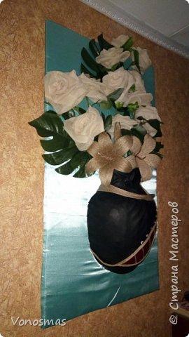 """Панно """"Кашпо с розами"""" фото 11"""