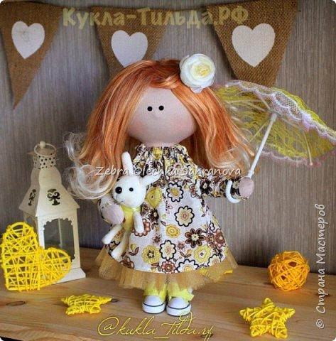 интерьерная кукла, снежка, тильда фото 5