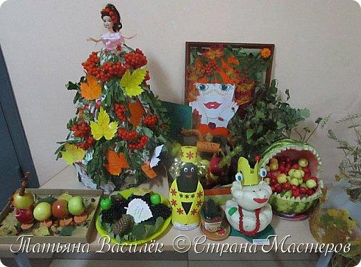 Вот такая Мадам Кабачкова получилась у нас с дочкой:) Поделка сделана на выставку к Празднику Осени. фото 15