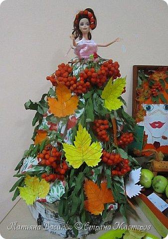 Вот такая Мадам Кабачкова получилась у нас с дочкой:) Поделка сделана на выставку к Празднику Осени. фото 16