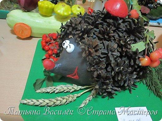 Вот такая Мадам Кабачкова получилась у нас с дочкой:) Поделка сделана на выставку к Празднику Осени. фото 25