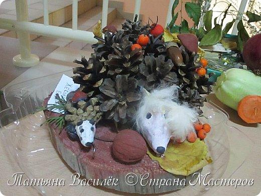 Вот такая Мадам Кабачкова получилась у нас с дочкой:) Поделка сделана на выставку к Празднику Осени. фото 27