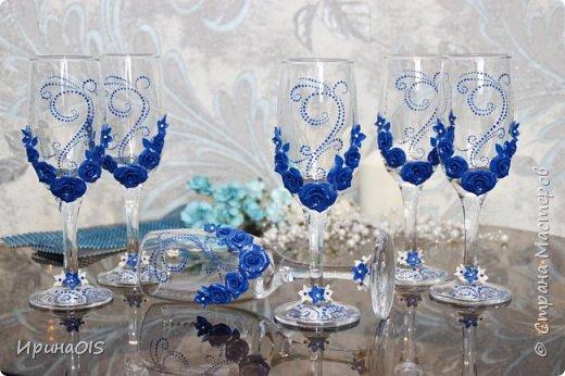 Фужеры в синем цвете фото 3