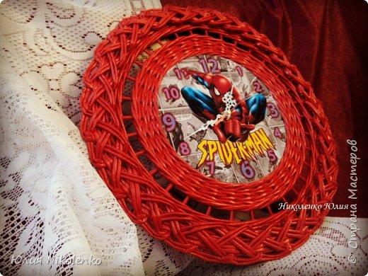 Здравствуйте! Сегодня я покажу вам часы с изображением Человека паука. Это пожелание заказчика, часы будут висеть в комнате мальчика.  фото 2