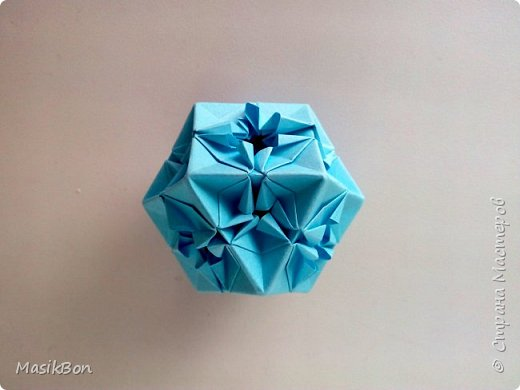 Оригами кубооктаэдр. Многогранник из бумаги