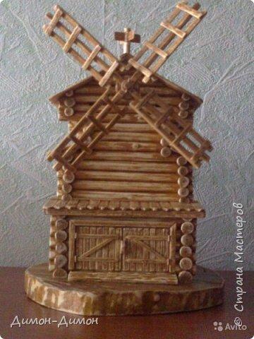 Макет  ветряной  мельницы. фото 2