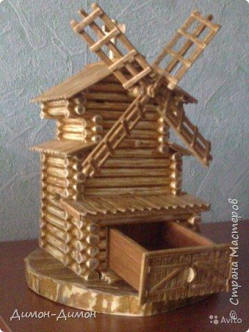 Макет  ветряной  мельницы. фото 3
